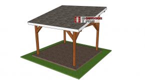 12×12 Lean to Pavilion – Free DIY Plans