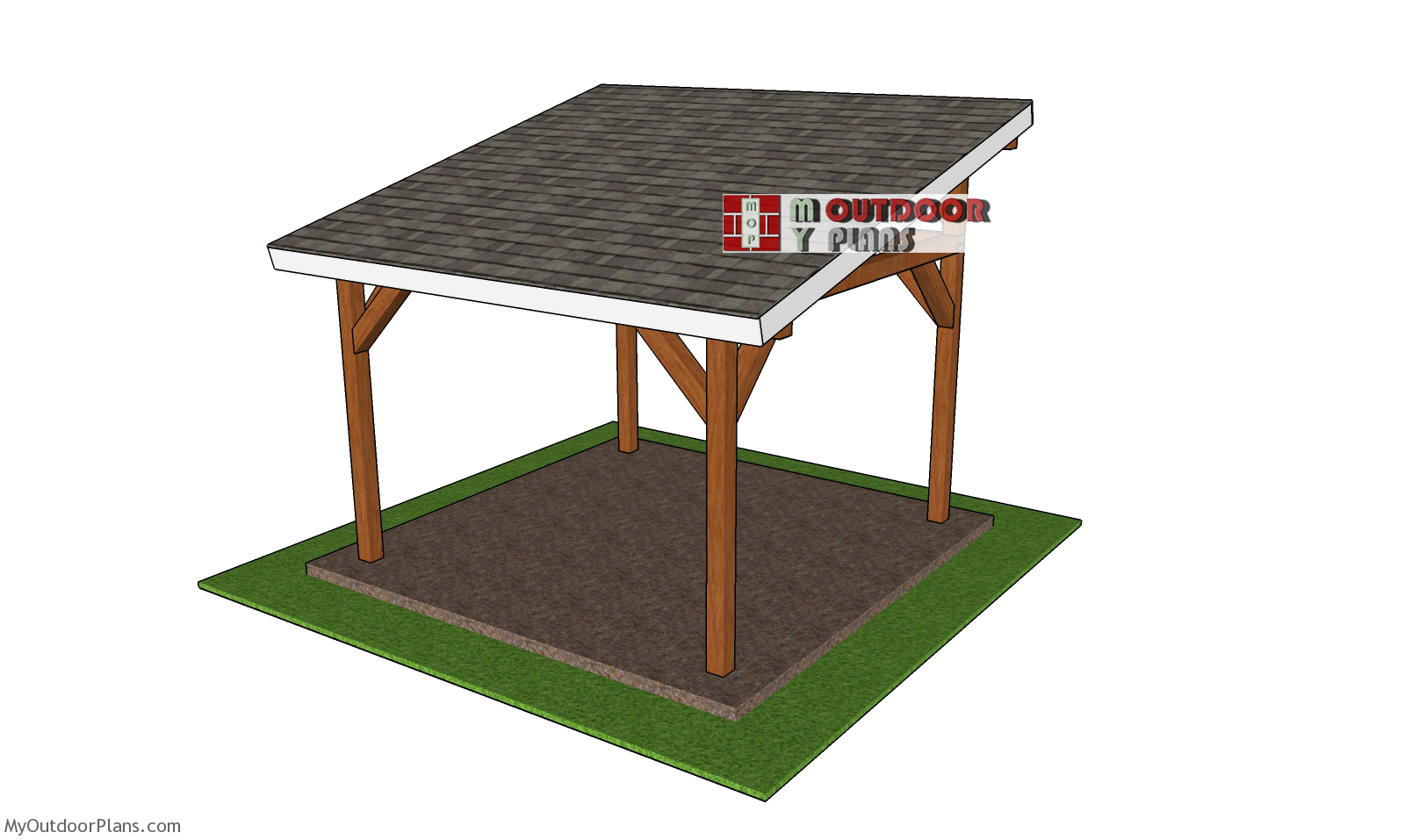 12x12 Lean to Pavilion - Free DIY Plans