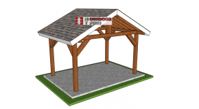 12×8 Outdoor Gable Pavilion – Free DIY Plans