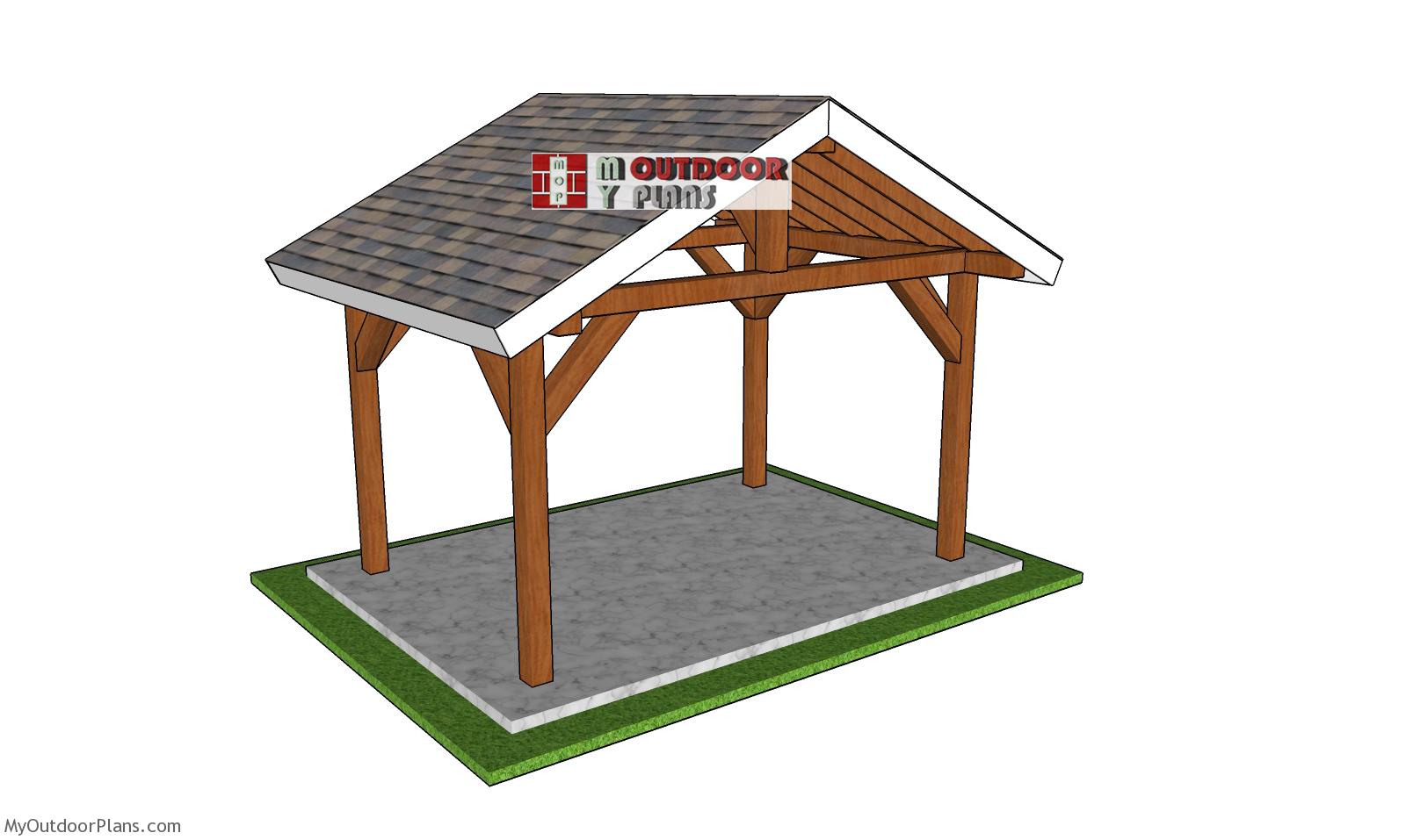 12x8 Outdoor Gable Pavilion - Free DIY Plans