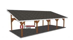 16×40 Lean to Pavilion Plans – Free DIY Tutorial