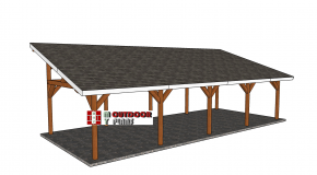 16×40 Lean to Pavilion Plans – Free DIY Tutorial