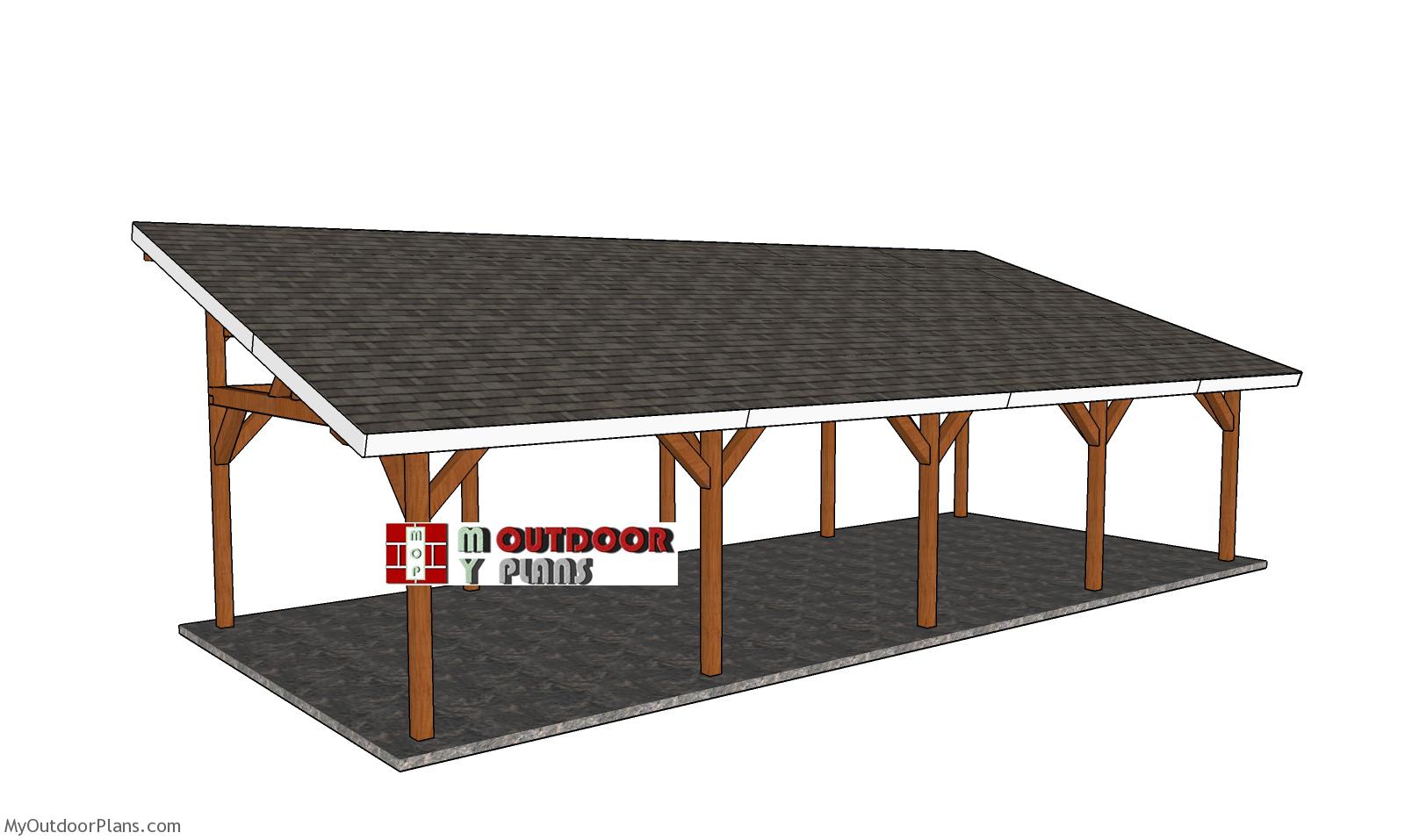 16x40 Lean to Pavilion Plans - Free DIY Tutorial