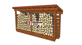 1 Cord 2×12 Firewood Shed Plans