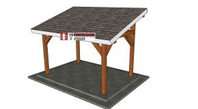8×12 Lean to Pavilion – Free DIY Plans