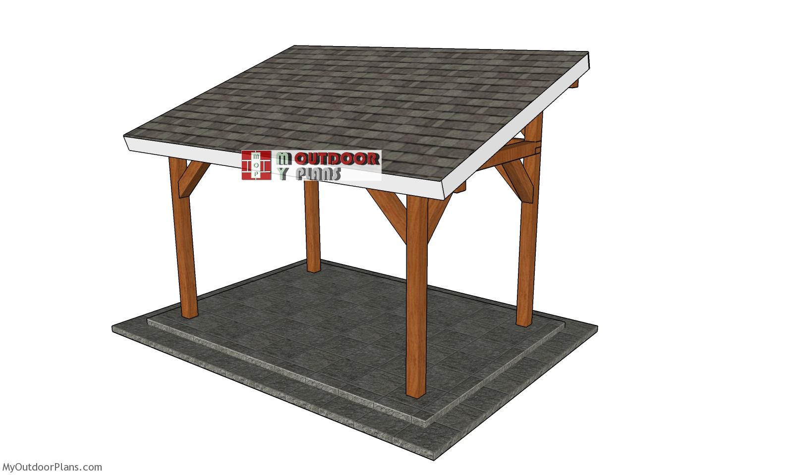 8x12 Lean to Pavilion - Free DIY Plans