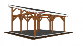 20×20 Lean to Pavilion – Free DIY Plans