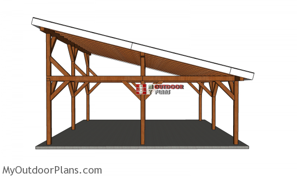 How-to-make-a-24x24-pavilion-lean-to-roof