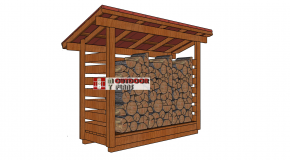 1 Cord 3×10 Firewood Shed Plans
