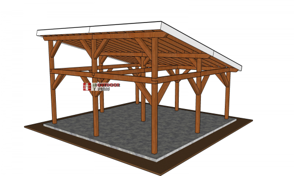 Make-a-pavilion-lean-to-roof