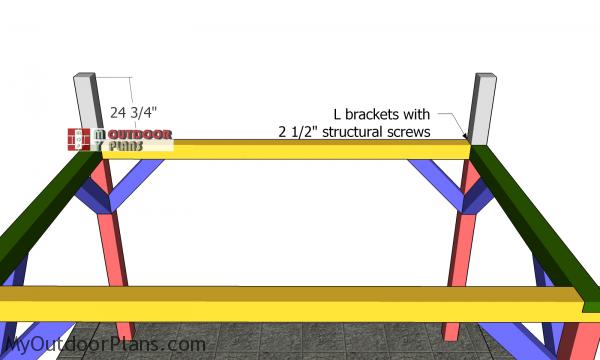 Ridge-beam-supports