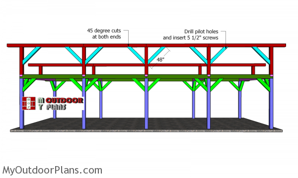 Top-ridge-beams