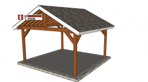 15×15 Gable Pavilion – Free DIY Plans