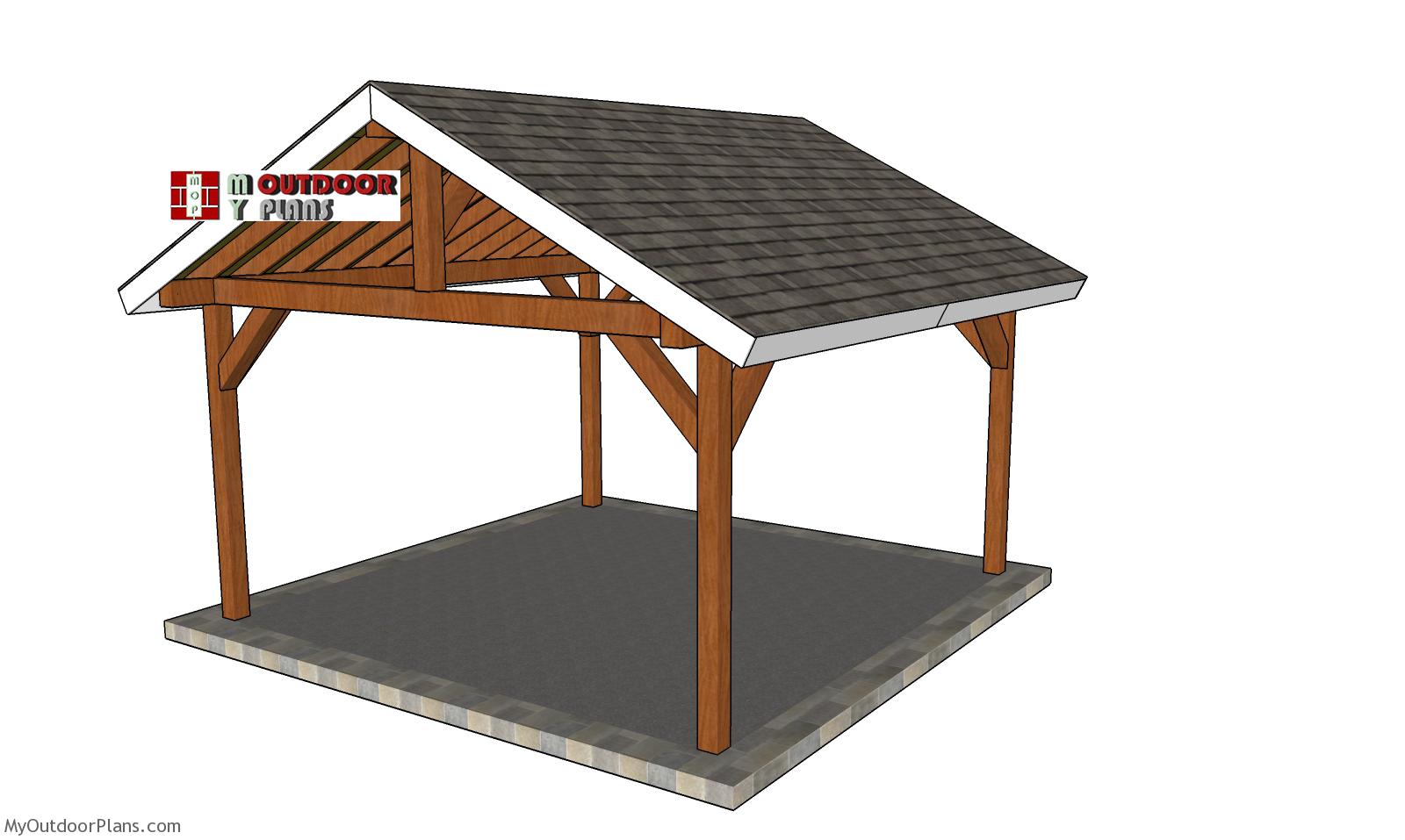 15x15 Gable Pavilion - Free DIY Plans