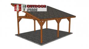 16×20 Lean to Pavilion – Free DIY Plans