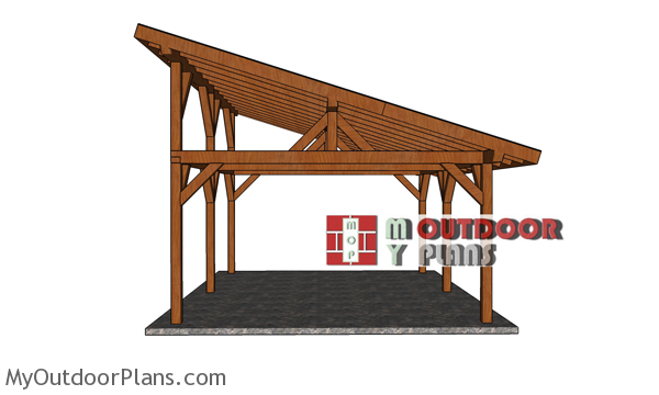 16x20-Lean-to-Pavilion---side-view
