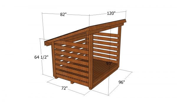 2 cord Wood Shed - dimensions