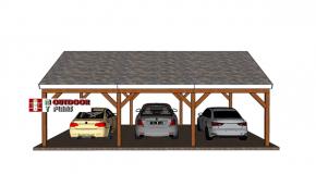 3 car 20×30 gable carport – Free DIY Plans