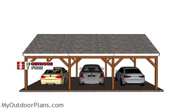 3 car 20x30 gable carport - Free DIY Plans