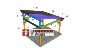 14×14 Gazebo Lean to Roof Plans
