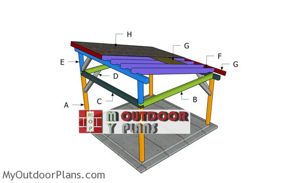 14x14 Gazebo Lean to Roof Plans