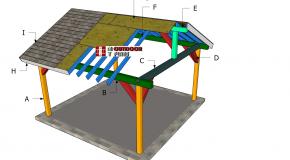 15×15 Pavilion – Gable Roof Plans