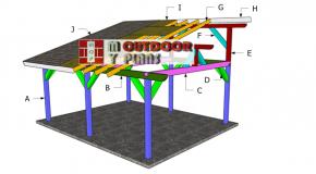 16×20 Lean to Pavilion Roof Plans