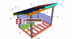 6×8 Firewood Shed Roof Plans