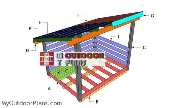 6x8 Firewood Shed Roof Plans