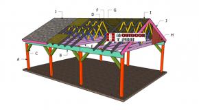 20×30 Carport Gable Roof Plans