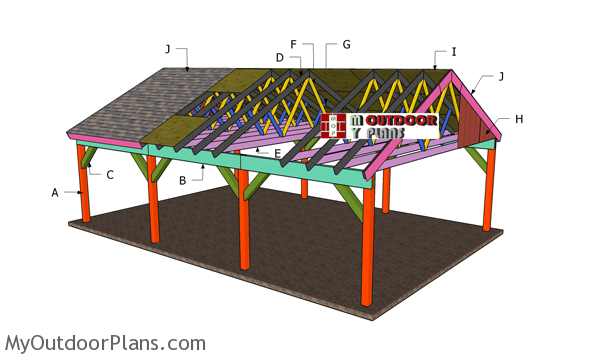 20x30 Carport Gable Roof Plans