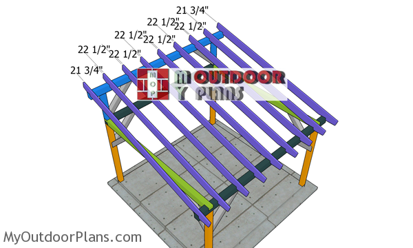 Fitting-the-lean-to-rafters