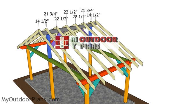 Fitting-the-rafters---20x10-gazebo