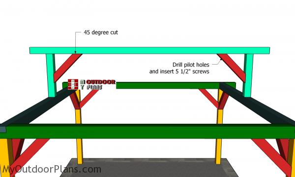 Fitting-the-ridge-beam braces