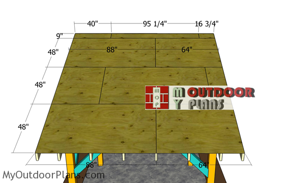 Fitting-the-roof-sheets