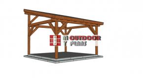 14×14 Lean to Pavilion – Free DIY Plans