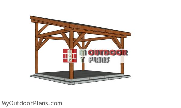 14x14 Lean to Pavilion - Free DIY Plans