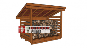 6×8 Wood Storage – 2 Cord Firewood Shed Plans