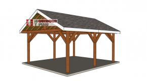 16×18 Gable Pavilion – Free DIY Plans