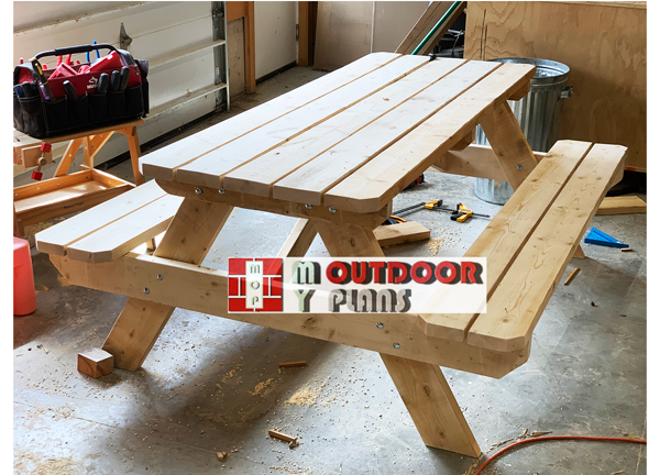 DIY Project - Wood 8 ft Picnic Table