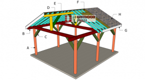 How to Build a Gable Roof for a 16×18 Pavilion