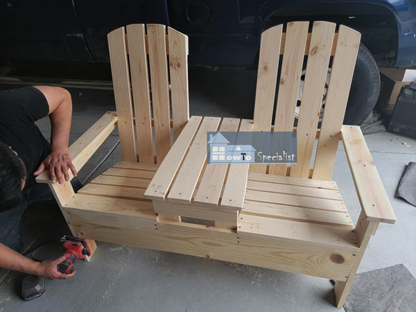 Make Project - Adirondack Double Chair Bench