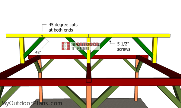 Fitting-the-braces-for-the-ridge-beams