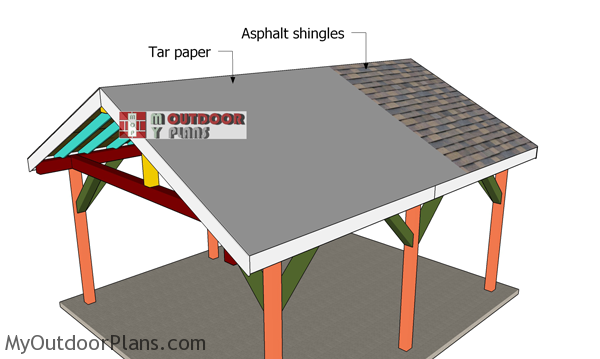 Fitting-the-roofing-to-the-pavilion