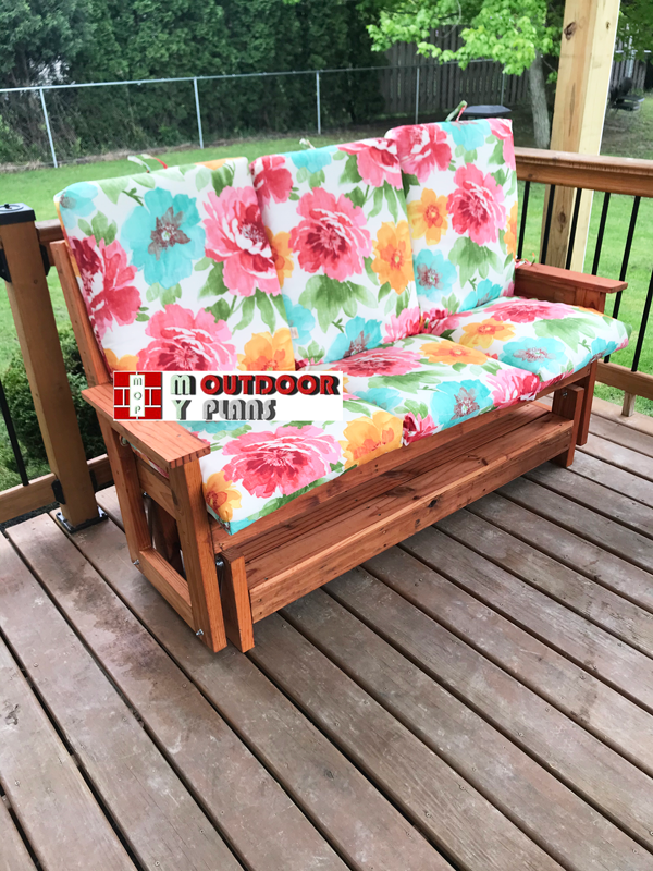 DIY Project - Glider Bench with Cushions