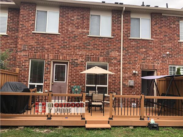 DIY Backyard Deck with Rails