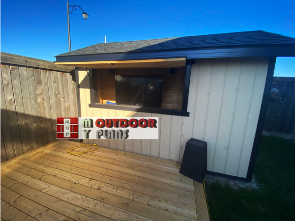 DIY Project - 8x12 gable shed with media centre