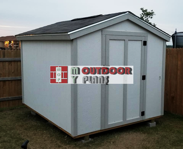 8x10 Short Storage Shed - DIY Project