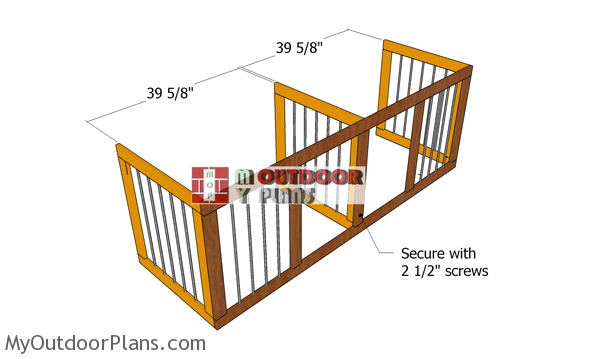 Assembling-the-frame-for-the-double-kennel