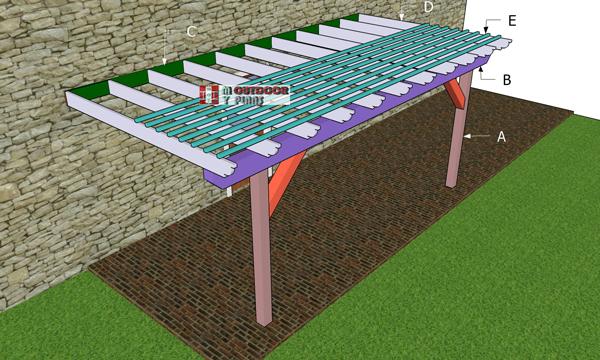 Building-a-12x16-attached-pergola